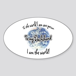 Dachshund World2 Oval Sticker