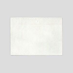 Spiral Notebook Paper 5'x7'area Rug