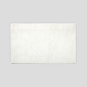 Spiral Notebook Paper 3'x5' Area Rug