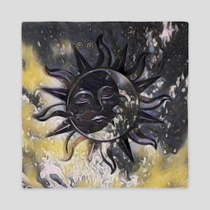 Sleepy Sun Moon Queen Duvet