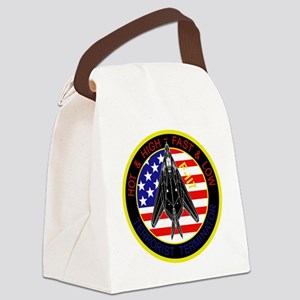 f-117_patch_f117 Canvas Lunch Bag