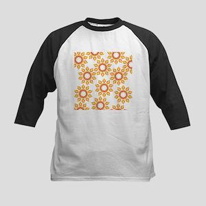 Scattered Orange Flowers Baseball Jersey