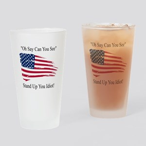 Oh Say Can You See Flag Drinking Glass
