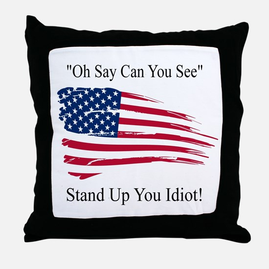 Oh Say Can You See Flag Throw Pillow