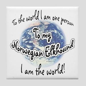 Elkhound World2 Tile Coaster