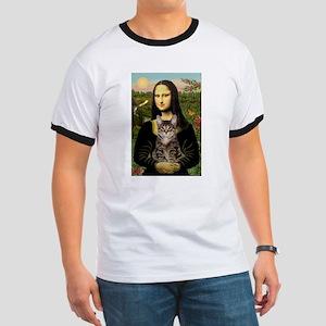 Mona Lisa & her Tiger Cat Ringer T