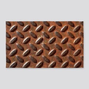 Rusted Steel Tread 3'x5' Area Rug