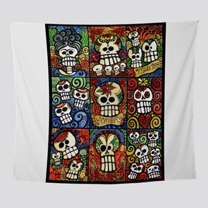 Day of the Dead Sugar Skulls Collect Wall Tapestry