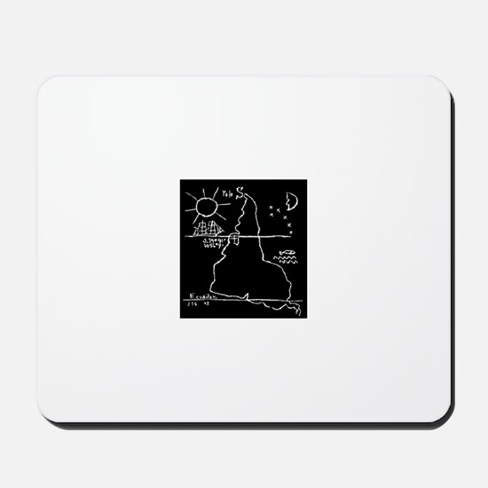 Earth Upside Down Mousepad