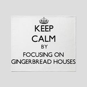 Keep Calm by focusing on Gingerbread Throw Blanket