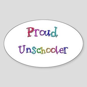 Proud Unschooler 22 Oval Sticker