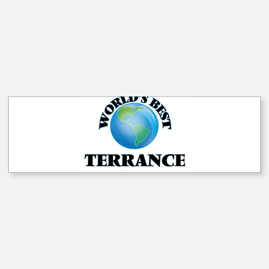 World's Best Terrance Bumper Bumper Bumper Sticker