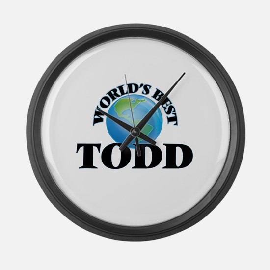 World's Best Todd Large Wall Clock