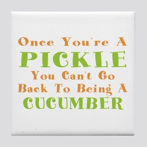 Once You're A Pickle, Cucumber Tile Coaster