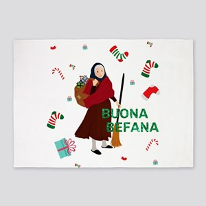christmas Witch Befana 5'x7'Area Rug