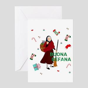 christmas Witch buona Befana Greeting Cards