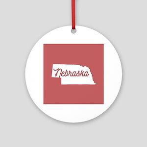 Nebraska Round Ornament