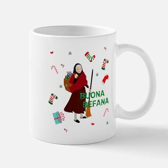 christmas Witch buona Befana Mugs