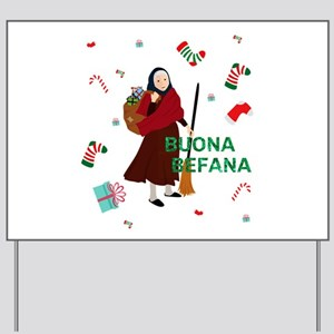 christmas Witch buona Befana Yard Sign