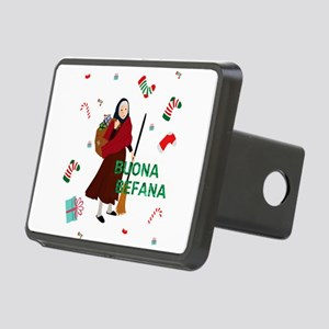 christmas Witch buona Befa Rectangular Hitch Cover