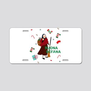 christmas Witch buona Befan Aluminum License Plate