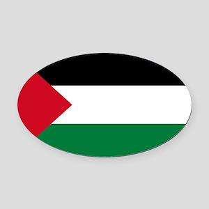 palestine-flag4000w Oval Car Magnet