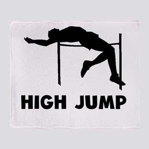 High Jump Throw Blanket