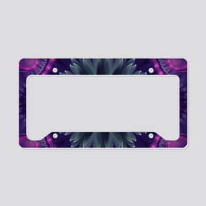 Beautiful Hot Pink and Gray F License Plate Holder