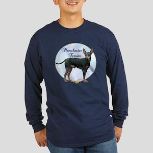 Manchester Potrait Long Sleeve Dark T-Shirt