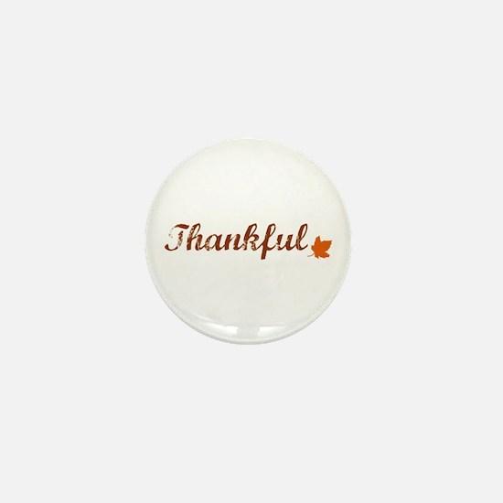 Thankful & Autumn Leaf Mini Button