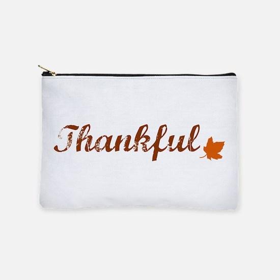 Thankful & Autumn Leaf Makeup Pouch