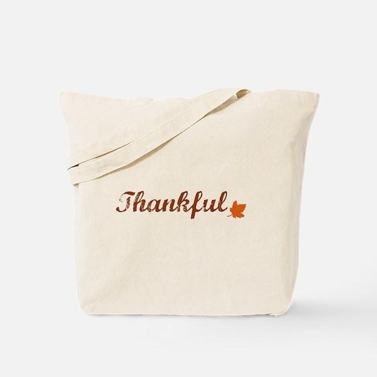 Thankful & Autumn Leaf Tote Bag