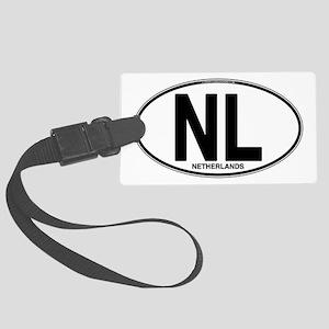 nl-oval-plain Large Luggage Tag