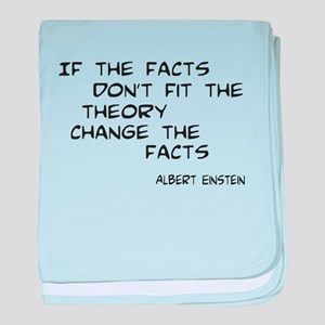 Facts Don't Fit baby blanket