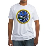 USS CHARLOTTE Fitted T-Shirt