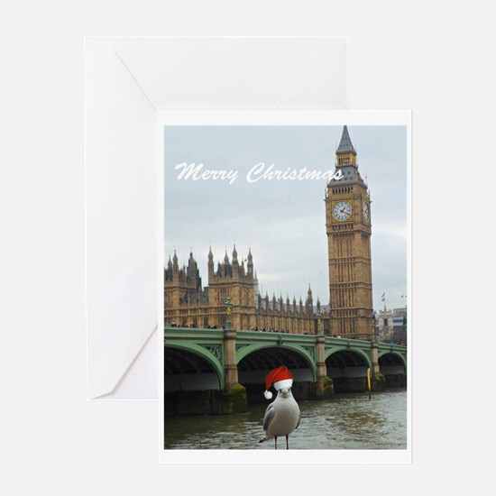 merry christmas seagul Greeting Cards
