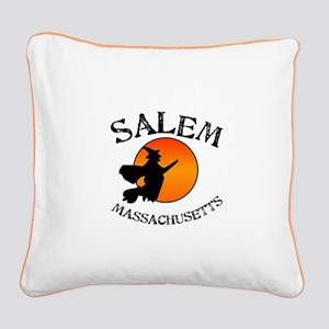 Salem Massachusetts Witch Square Canvas Pillow
