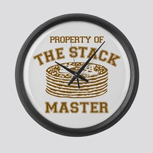 Property Of Stack Master Large Wall Clock