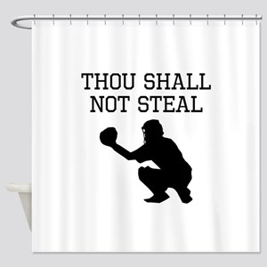 Thou Shall Not Steal Shower Curtain