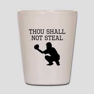 Thou Shall Not Steal Shot Glass