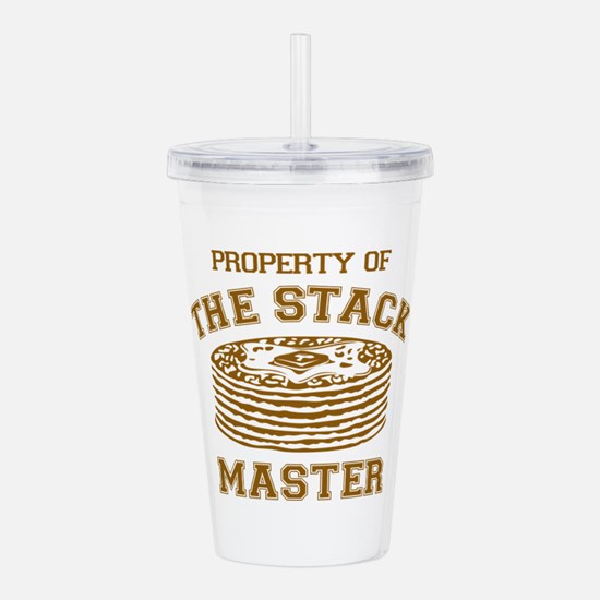 Property Of Stack Mast Acrylic Double-wall Tumbler