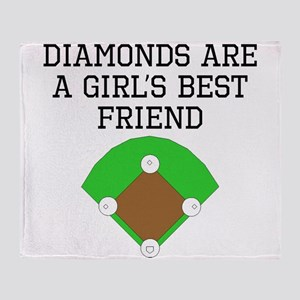 Diamonds Are A Girls Best Friend Throw Blanket