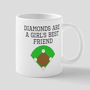 Diamonds Are A Girls Best Friend Mugs