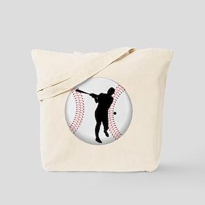 Baseball Batter Silhouette Tote Bag