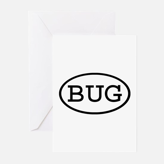 BUG Oval Greeting Cards (Pk of 10)