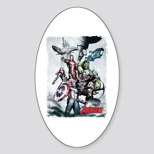 Avengers Sketch Sticker (Oval)