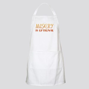 Misery Is Optional Recovery BBQ Apron