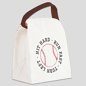 Hit Hard Run Fast Turn Left Canvas Lunch Bag