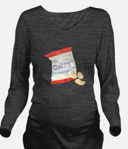 Chips Connisseur Long Sleeve Maternity T-Shirt