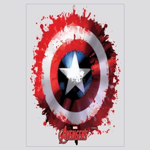 Cap Shield Spattered Wall Art